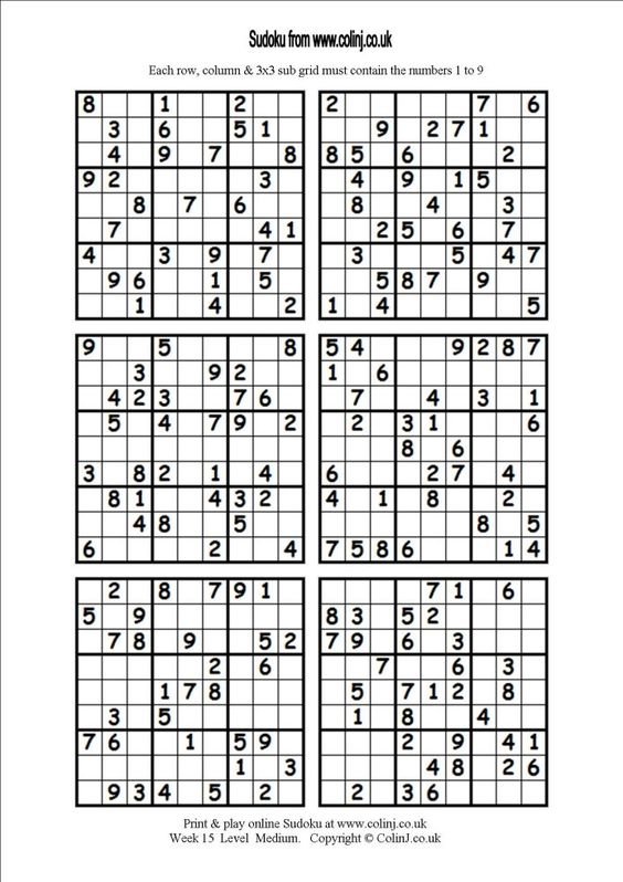 picture relating to Printable Sudoku 4 Per Page called 6 Printable Sudoku Effort Calendar