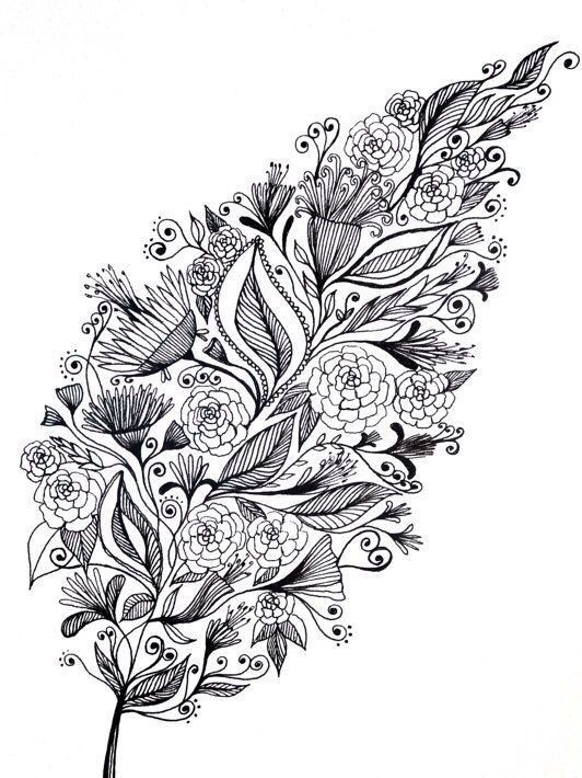 Раскраски антистресс цветы в цвете
