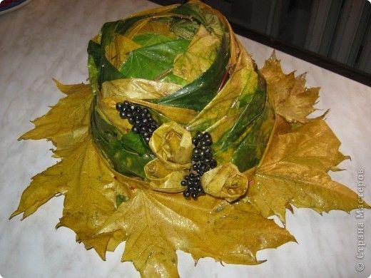 Шляпа из листьев
