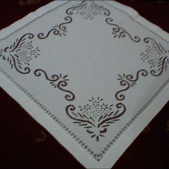 Вышивка ришелье салфетка схемы