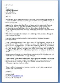 Job Application Letter Retail