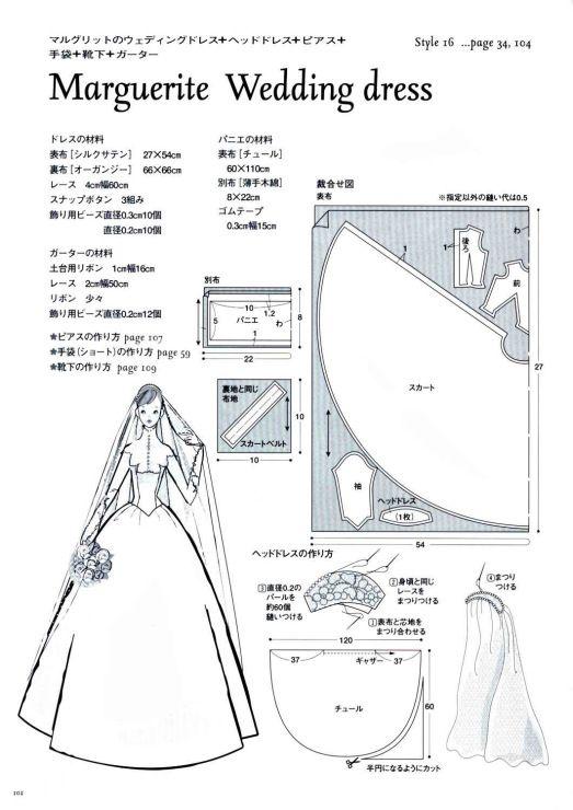 Как сшить свадебное платье своими руками схема