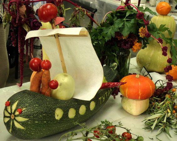 Поделки осенние из овощей своими руками