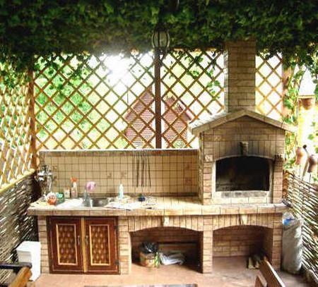Барбекю в летней кухне своими руками