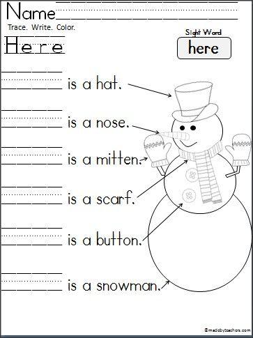 prep homework sheets
