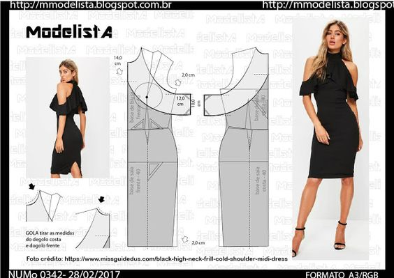 Как сшить маленькое черное платье с выкройками