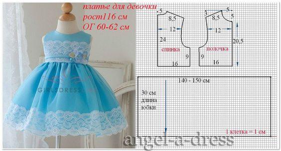 Как сшить детское платье своими руками быстро и без выкройки