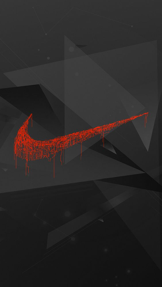 Red and black nike logo