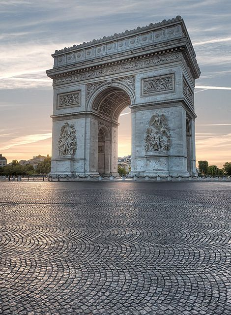 Arc de Triomphe, Paris. I saw this in the winter of 1986 sometime after Christmas, there.: