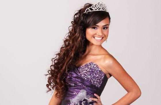 peinados de 15 años con corona 2015