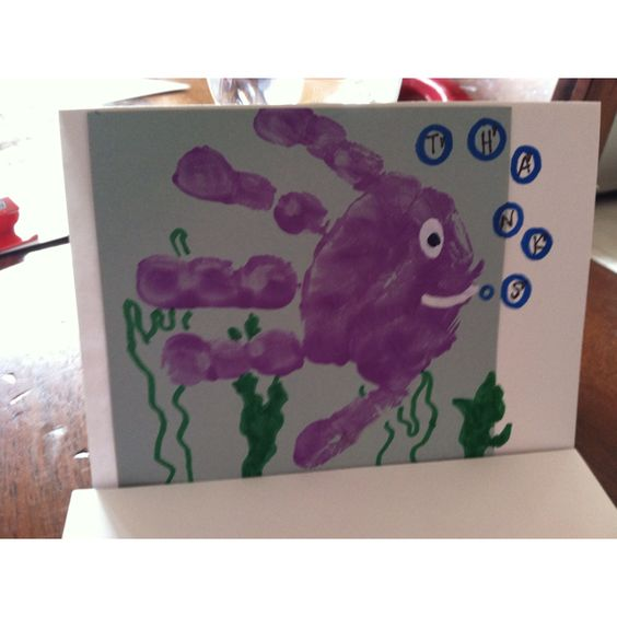 More Fishy Handprints Thank You Cards Craft Ideas Pinterest Cards And Thank You Cards