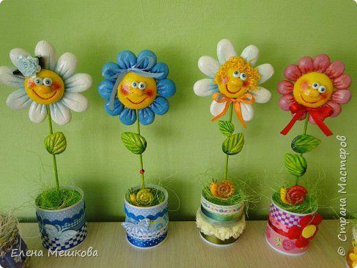 Тесто поделки цветы