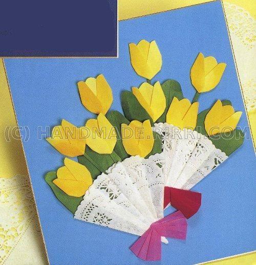 Открытки цветочки своими руками