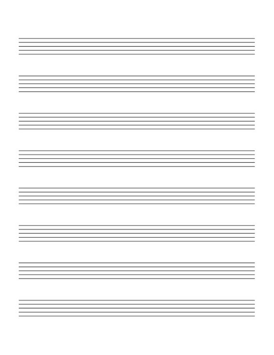 Blank Sheet Music Print Out - blank sheet of paper with lines