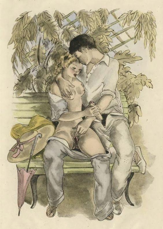 Ретро рисунки порно художников