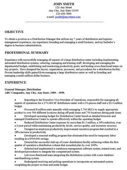 general resume objectives - solarfm