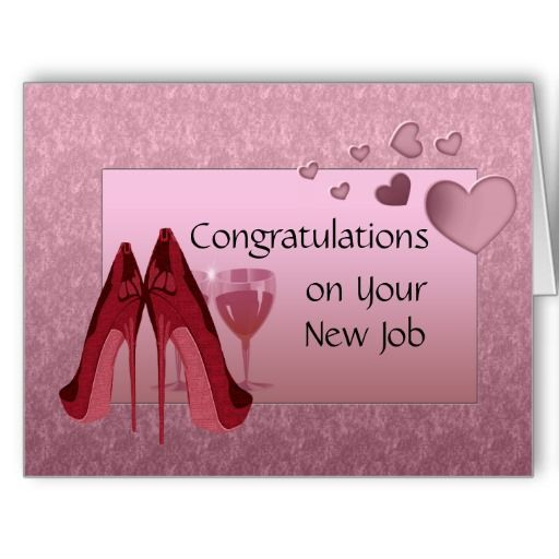 Congratulations On New Job And Greeting Card On Pinterest