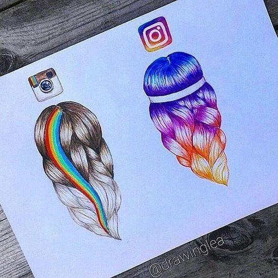 Как сделать как нарисованное в инстаграм
