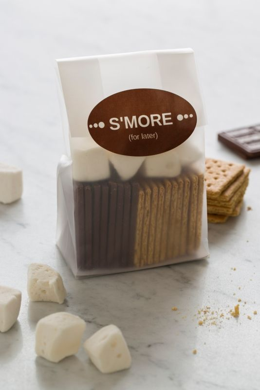 s'mores kit winter wedding favor