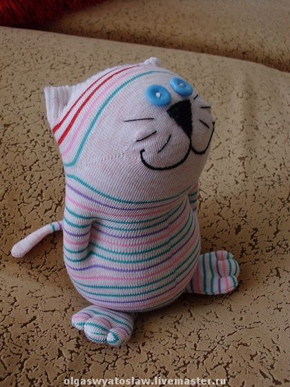 Котик из носка своими руками