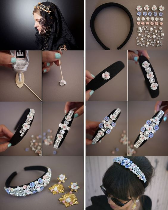 Как сделать своими руками ободок с камнями