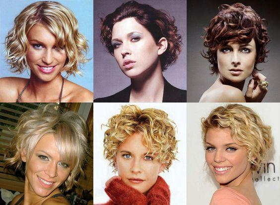 Стрижки на короткие волосы на вьющиеся волосы женские