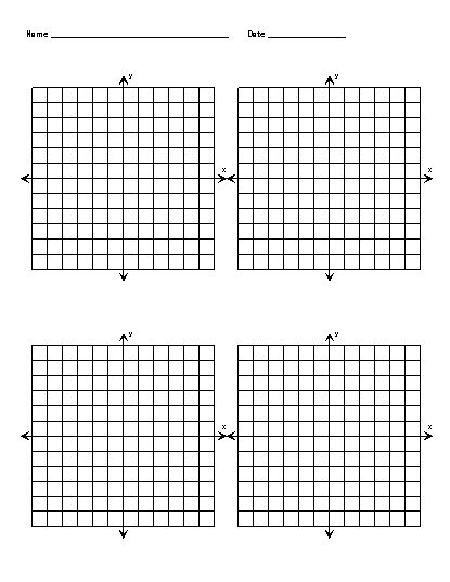 X And Y Axis Graphs – Printable Pages