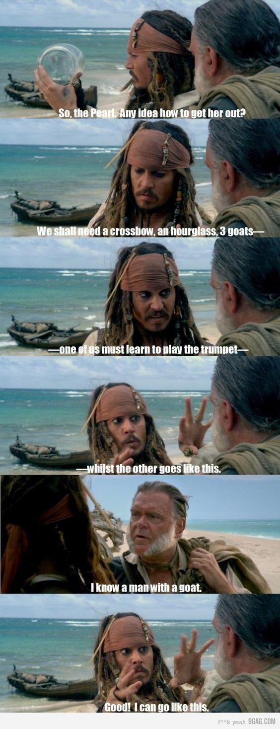 Jack sparrow running meme