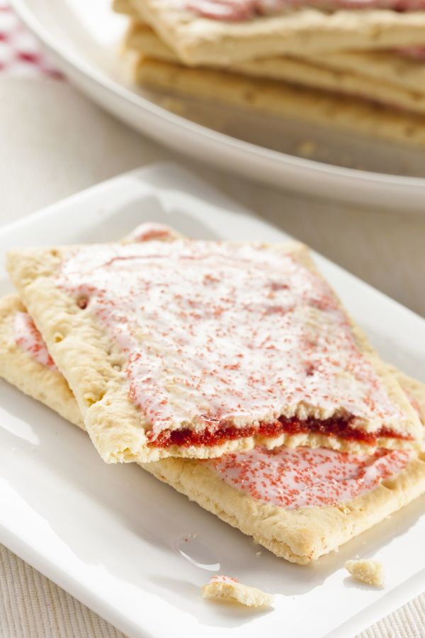 Breakfast Recipe: Homemade Strawberry Pop Tarts.  Hmmm....sounds interesting.  Bet these have a lot less chemicals than the