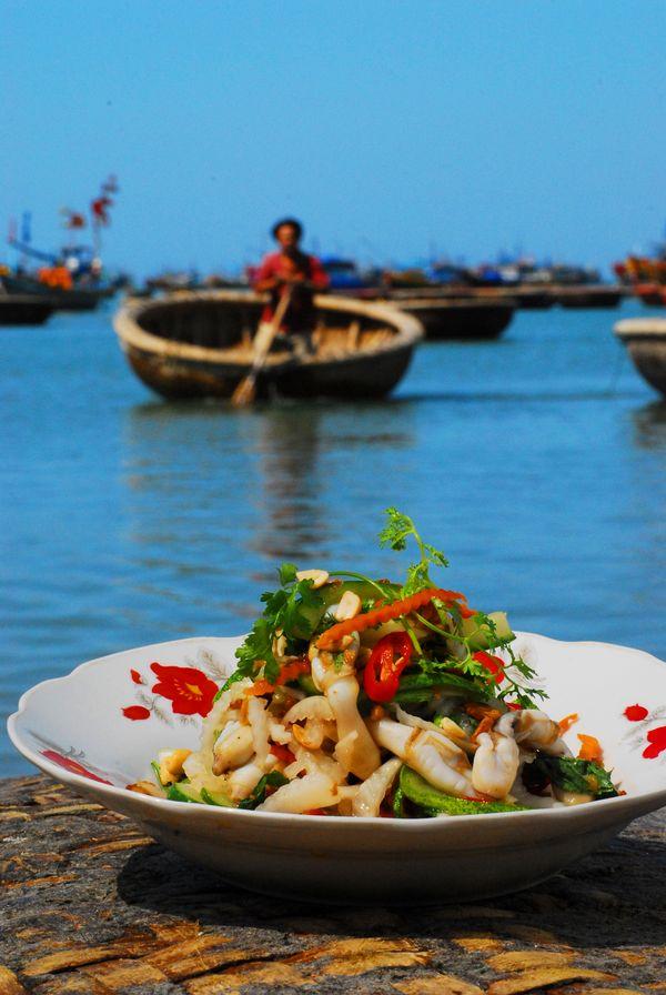 Razor clam salad