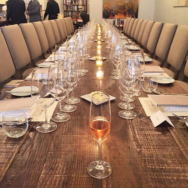 A table's never set until the sparkling arrives! {Berlucchi Franciacorta rosé}
