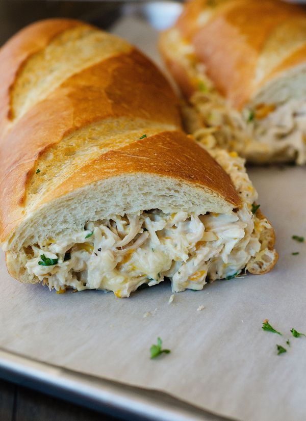 Chicken Stuffed French Bread- East Dinner for a school/practice/dance/ahh!-my-life-is-insane night!