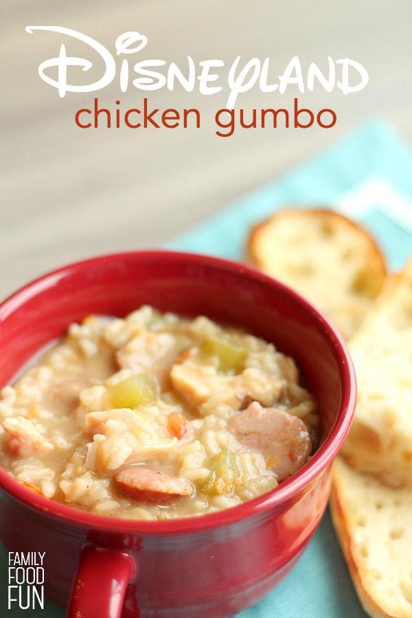 Copycat Disneyland Chicken Gumbo Recipe | FamilyFoodFun.com