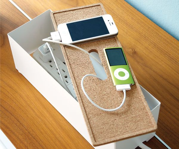 「IKEAのテッシュボックスでチャージャースタンド」プロダクトNo.44980