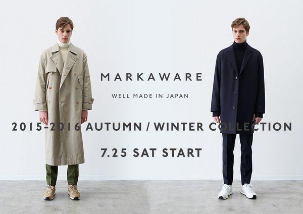 マーカウェア2015秋冬LOOK BOOK!真の男になりたくないか?
