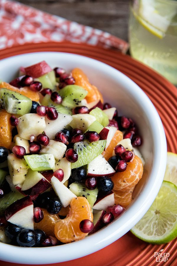 This colorful salad has a nice variety of different berries and fruits, and it's easy to make ahead for later.