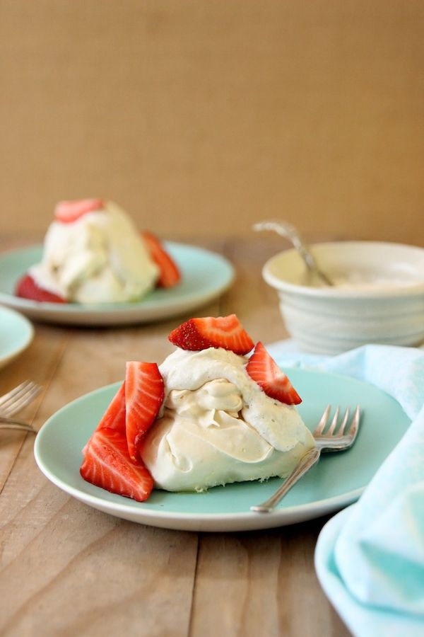 Mini Pavlovas with Vanilla Cashew Coconut Cream - Homegrown Kitchen