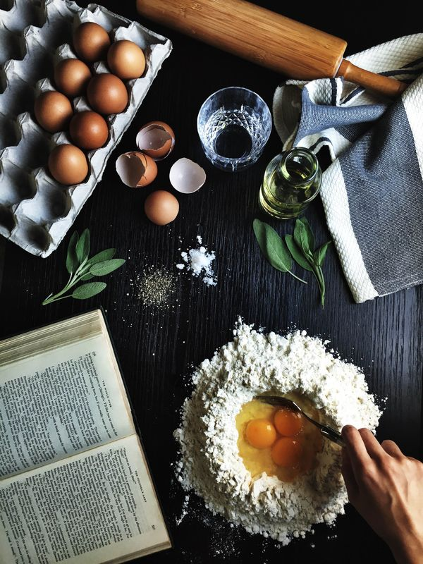 Duck egg Ravioli with Browned Sage Butter