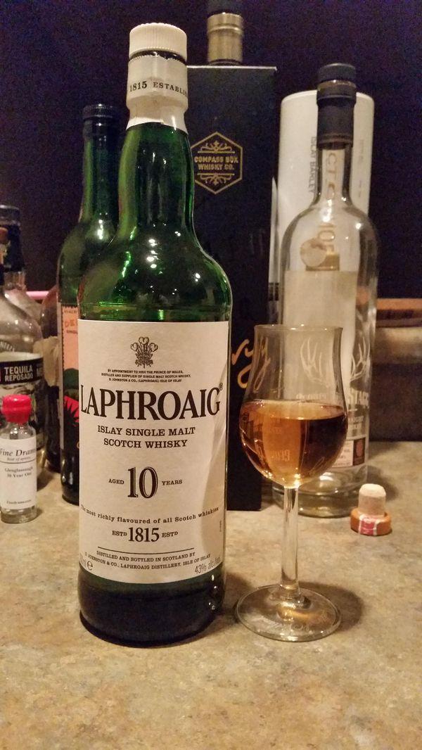 Review 229: Laphroaig 10 #scotch #whisky #whiskey #malt #singlemalt #Scotland #cigars