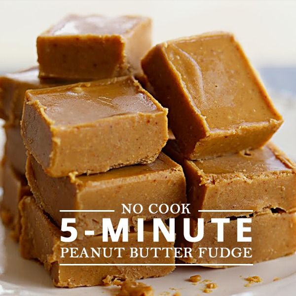 No Cooker 5 Minute Peanut Butter Fudge with just 5 ingredients! #peanutbutter #fudge