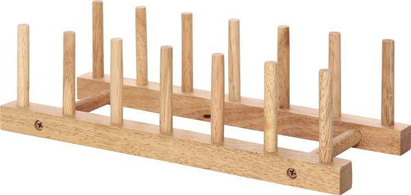 Amazon.co.jp: 不二貿易 木製ディッシュスタンド (皿立て) ボヌール キッチン雑貨シリーズ 94385: ホーム&キッチン