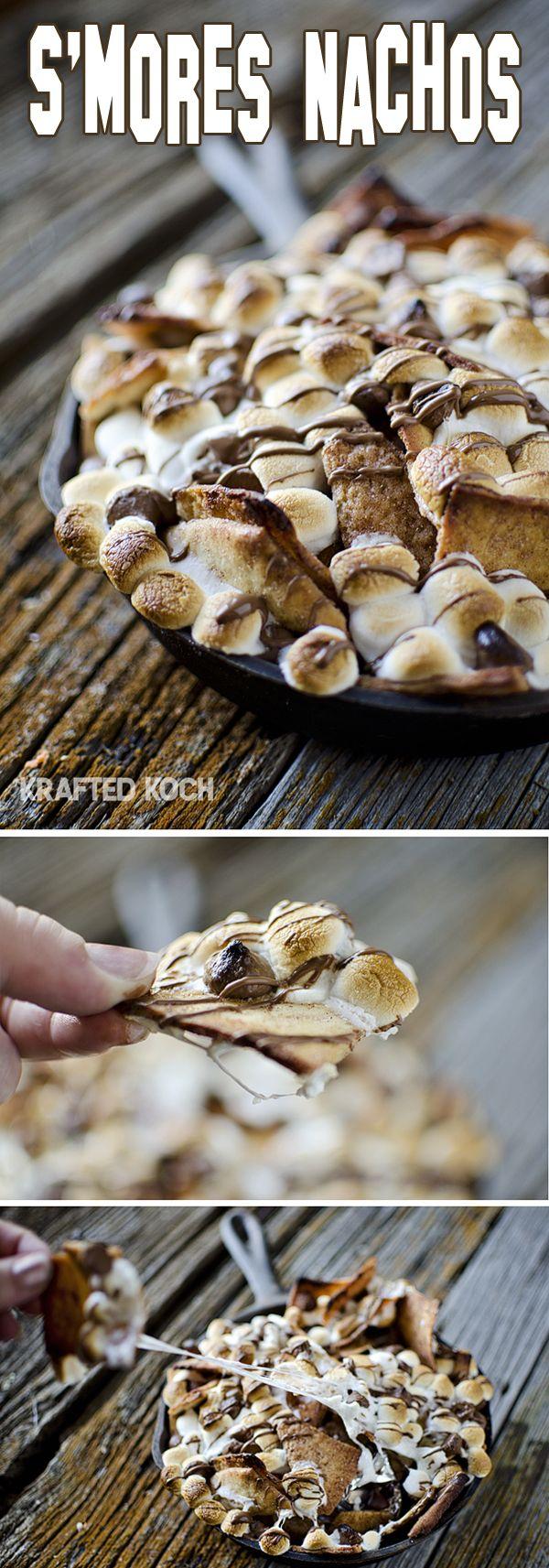 S'mores Nachos – 10 Minute Dessert