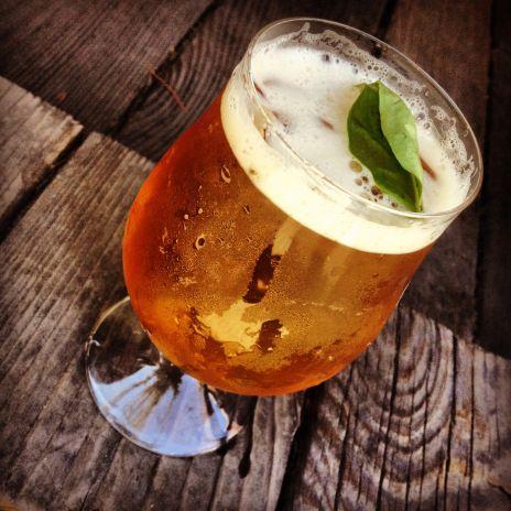 Honey Basil Beer Julep #beertail #beer #mixology