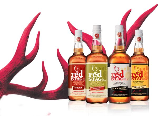 Infused Bourbon: Red Stag by Jim Beam® cherry bourbon for buckeye blitz drinks