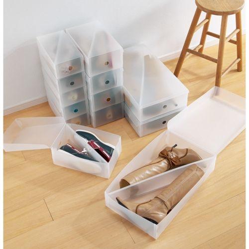 中身がほどよく見える半透明ブーツケース 3個組 通販 - ディノス
