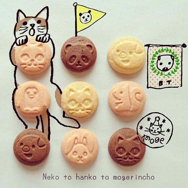 甘いもの。久しぶり(^ ^) 動物クッキー。