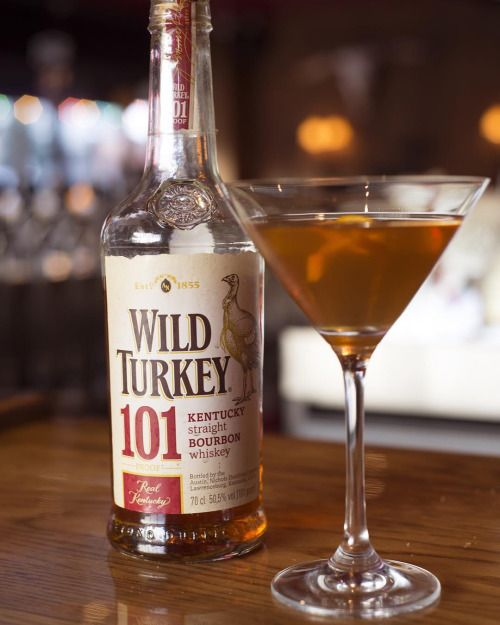 Our festive #Thanksgiving Manhattan stars @wildturkey bourbon...