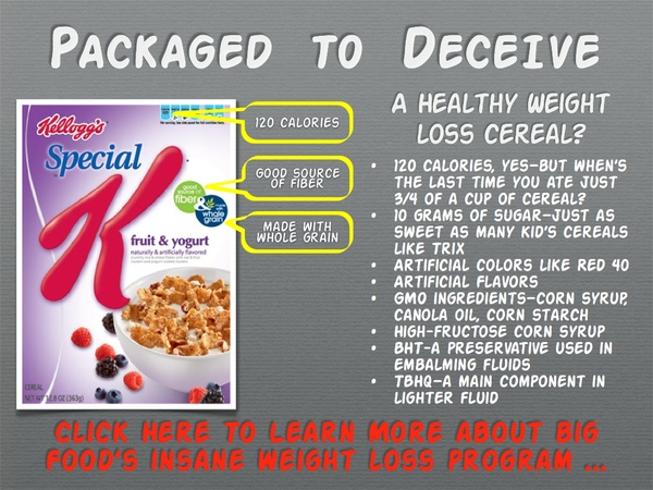 Is your so-called weight loss cereal really that good for you? What isn't Kellogg's tellin… Image