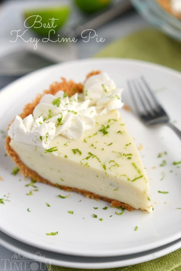 The Best Key Lime Pie recipe EVER! And so darn easy too! You won't be able to stop at just one slice! | MomOnTimeout.com