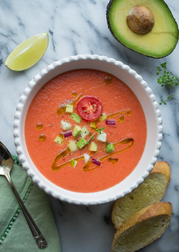 Based on an authentic Andalusian gazpacho, this amazing recipe has a few twists that create the perfect gazpacho!